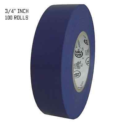 """TapesSupply 100 ROLLS WHITE ELECTRICAL TAPE 3//4/"""" X 66 FT FULL CASE"""