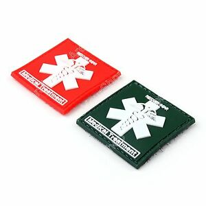 Rescuer-Gear-Medical-Treatment-3D-Tactical-Army-Rubber-Ecusson-Hook-Loop-Patch