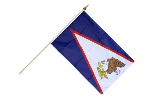 Amerikanisch Samoa Stockflagge Flaggen Fahnen Stockfahne 30x45cm