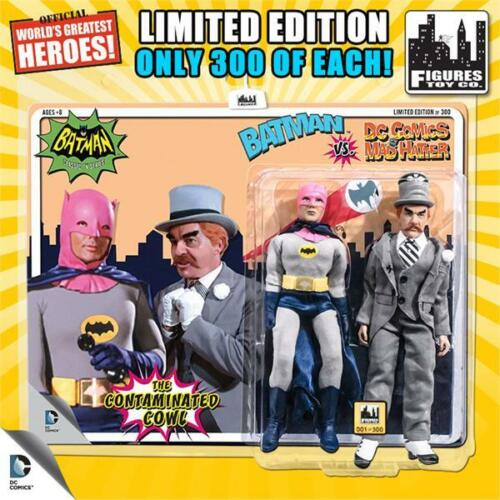 "Rose Cowl Batman Vs Mad Hatter 1966 série TV 8/"" Rétro Mego Action Figures Toy Co"
