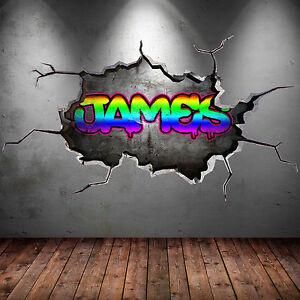 Ganzes mehrfarbig personalisiert graffiti name ziegel - Wandsticker graffiti ...