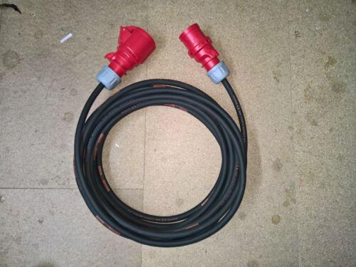 16A 400v//415v 4-Pin 3 PHASE EXTENSION 4G2.5mm H07RN-F Cable to BS7671 4F1A