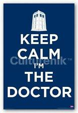 Doctor Who Keep Calm I'm The Doctor Television Drama Poster 24x36