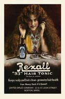 Salon Lady Rexall Hair Tonic Vintage Poster Advertisement Reproduction Free Sh