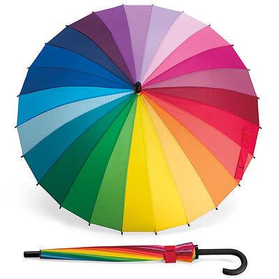 Museum of Modern Art MoMA Color Wheel Stick Rainbow Golf Sun Rain Umbrella