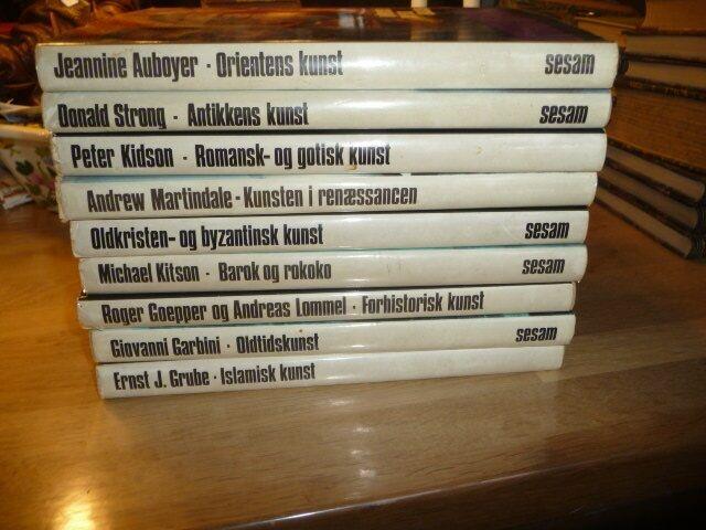 9 bind af kunst, emne: kunst og kultur