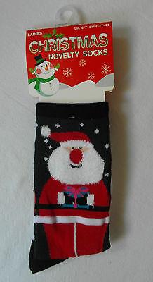 Señoras De Navidad / Novedad Diseño calcetines-Zapato Tamaño: Uk 4-7; EUR 37-41