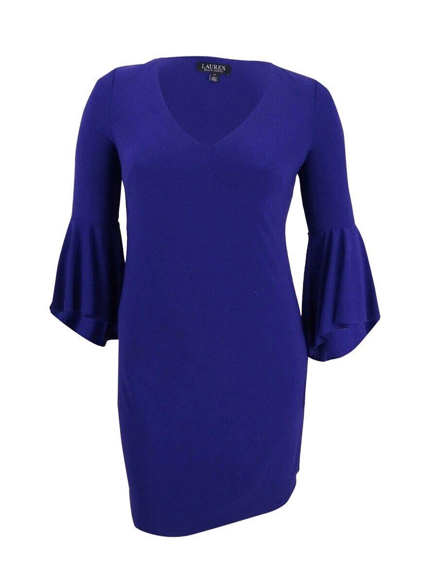Lauren by Ralph Lauren Woherren Flounce Sleeve Jersey Dress