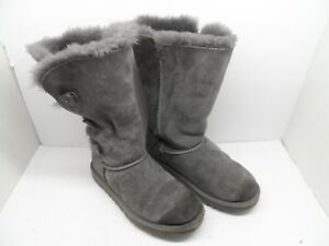 cd5eaece44b UGG Australia Girl's Bailey Button Triplet 1962 Sheepskin Boots Grey ...