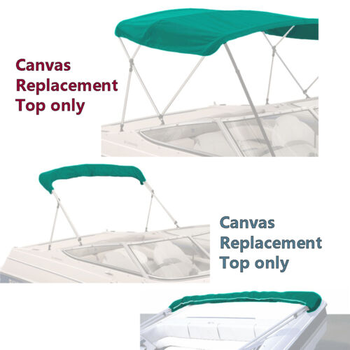 """BIMINI TOP BOAT COVER CANVAS FABRIC TEAL W//BOOT FITS 4 BOW 96/""""L 54/""""H 73/""""-78/""""W"""