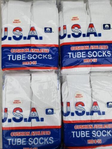 Men/'s Cotton Athletic Sports Tube Socks 12 Pairs