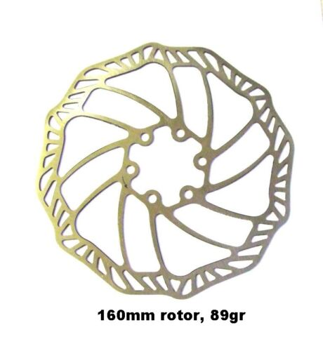 160mm ULTRA LIGHT DISC BRAKE ROTOR 89 grm! AVID, HAYES, HOPE, SHIMANO ETC ETC