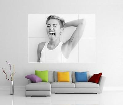 MILEY CYRUS BANGERZ WRECKING BALL GIANT WALL ART PHOTO PICTURE PRINT POSTER