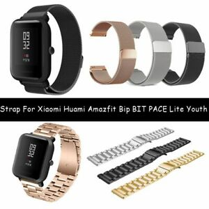 Correa-de-metal-magnetico-For-Huami-Amazfit-Bip-BIT-PACE-Lite-Youth-Watch