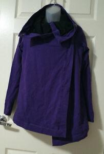 Lululemon Sz 4 Savasana Wrap EUC LoLo Purple Black Cotton ...