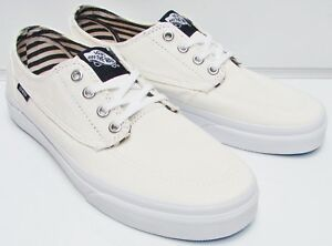 039cffb02bccc3 Vans Men s Brigata Deck Club True White VN000ZSLFD7 Size  7.5