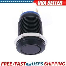 12mm Waterproof Flat Stainless Steel Momentary Push Button Switch Black