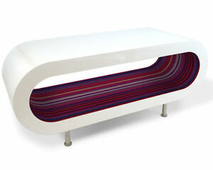Bespoke-Designer-Coffee-Table-Red-Purple-Stripe-High-Gloss-Modern-Wooden-Oval