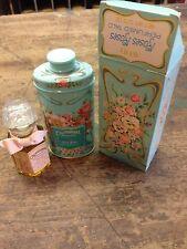Avon CALIFORNIA PERFUME CO. 1977  Cologne 1.5 Oz. & Roses Perfume Talc Box