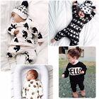 Newborn Infant Baby Boy Girl Kids Romper Jumpsuit Bodysuit Clothes Outfit Set