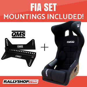 Mirco-RS2-FIA-Racing-Seat-BLACK-VELOUR-Set-with-Bracket-Mountings-Included