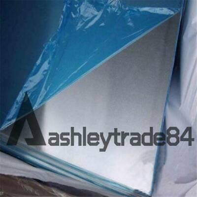 200mm 100mm 10pcs 7075 Aluminum Al Alloy Shiny Polished Plate Sheet 1mm