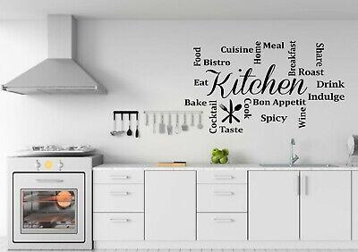 Cucina Personalizzata Parola Citazioni Wall Art Sticker Decal-