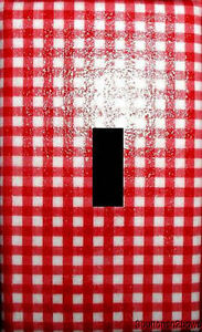 RED-GINGHAM-check-fabric-Switchplate-Lightswitch-Cover-Kids-Fab