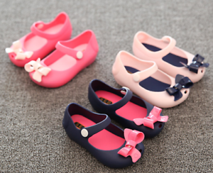 db3cdd24d Fashion Cute Bow Casual Princess Girls Jelly Shoes Candy Scented ...