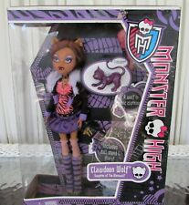 Monster High Clawdeen Wolf Doll Crescent New in Box Sealed