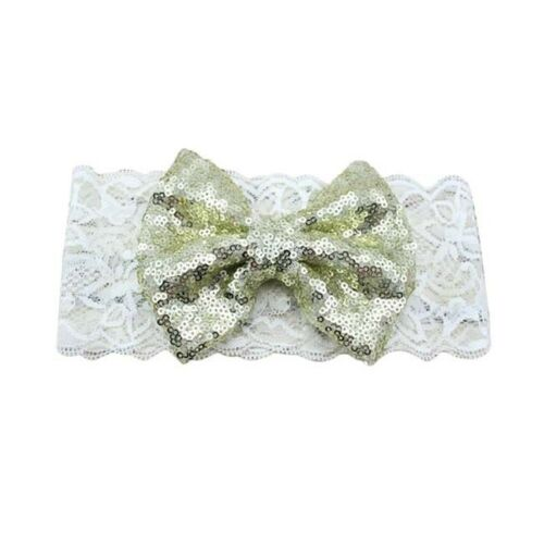Kids Girl Baby Headband Toddler Lace Bow Flower Hair Band Accessories Headwear D