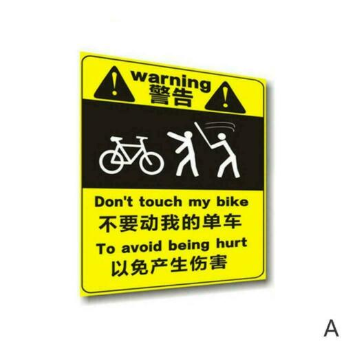 Mountain Bike Bicycle Frame Warning Stickers Decals Equipment W6B8