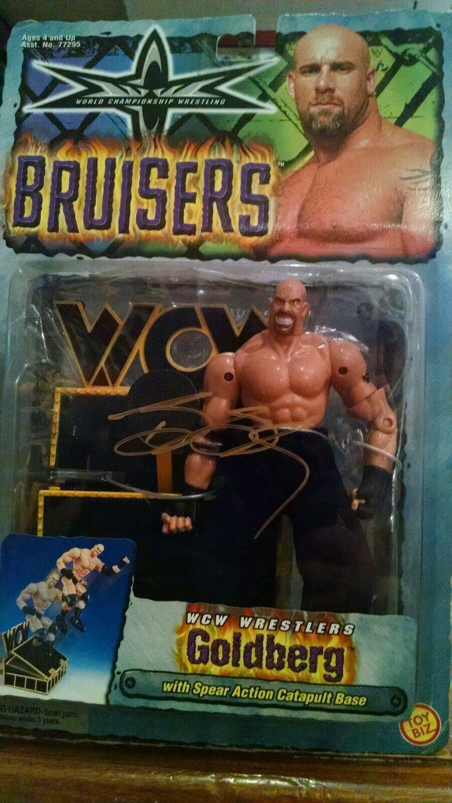 1999 Bill goldberg gold Autographed WCW WWE WWF Bruisers Action figure