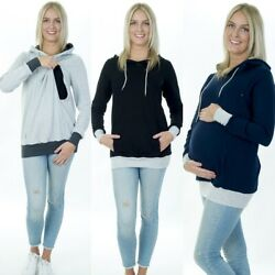 Umstandspullover Stillpullover 3in1 Stillbluse Shirt Umstandsmode Stillmode D06