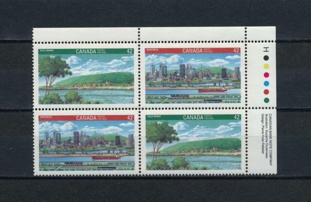 Canada  1404-5 MNH Inscription Block, Montréal & Ville-Marie, 1992