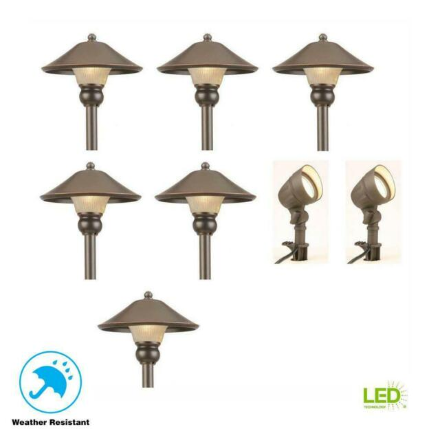 Outdoor Led Lights Path Walkway Garden Landscape Lighting Kit Low Voltage 8 Pack