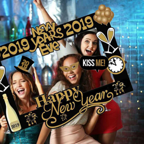 New Year/'s Eve Party Card Masks Photo Booth Props Christmas Supplies Decor