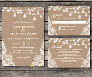 Personalized Rustic Burlap Lace String Lights Lace Wedding
