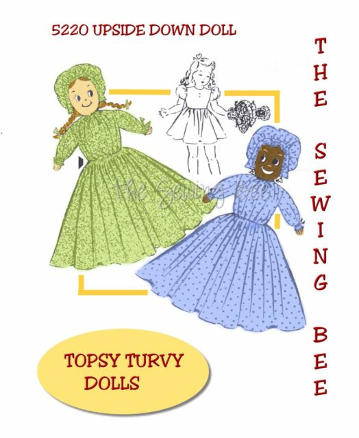 "Upside Down doll pattern and//or Single Dolls 15/"" # 1014 Vintage Topsy Turvy"
