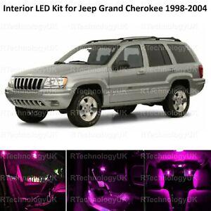PINK PURPLE LED INTERIOR LIGHT BULB KIT for JEEP GRAND CHEROKEE 1998-2004