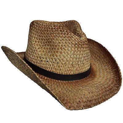 Fox Outdoor In Paglia Con Nastro Cappello Cowboy Marrone Chiaro Square Dance-mostra Il Titolo Originale Comodo E Facile Da Indossare