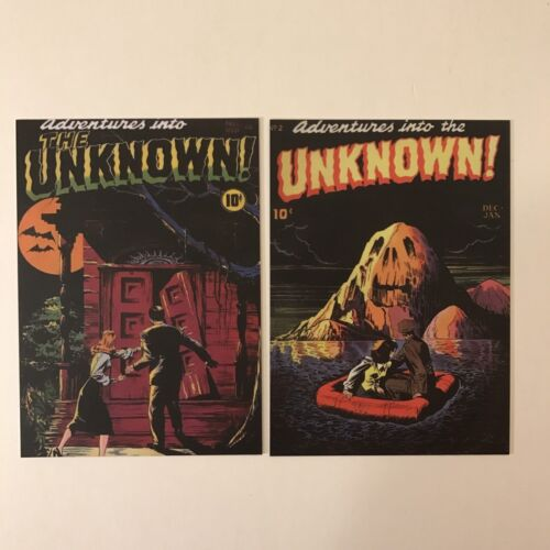 PUZZLE CHASE /& 2 PROMO ADVENTURES INTO THE UNKNOWN Cult-Stuff Complete Card Set