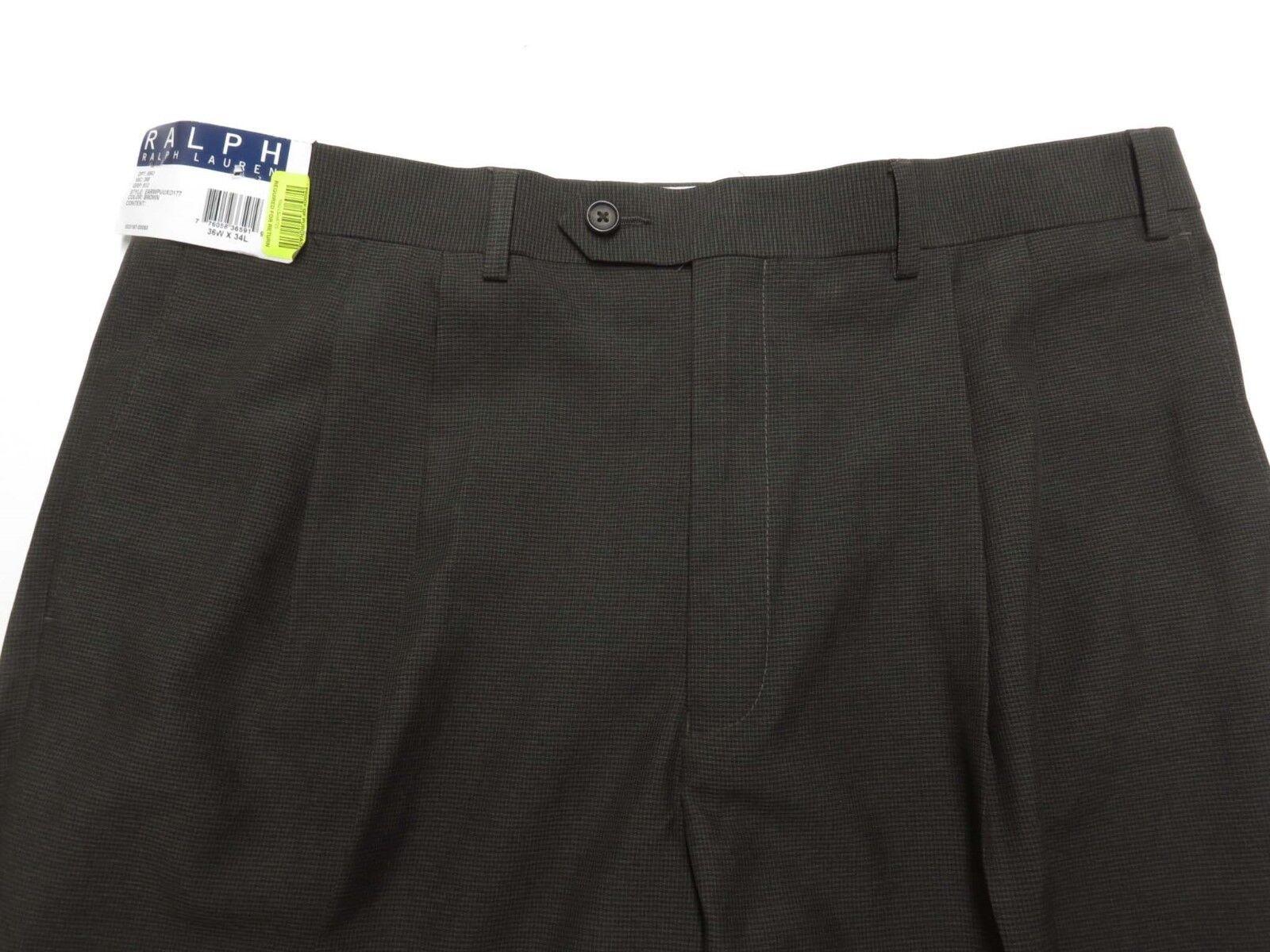 RALPH LAUREN Pants Brown - 36 x 34 NEW NWT