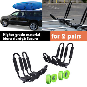 Paddle Board Car Racks >> Details About 2pair J Bar Kayak Ski Snowboard Wakeboard Paddleboard Car Top Roof Rack Carrier