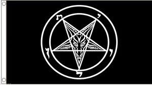 Baphomet Church of Satan Occult Pentagram Flag 5'x3' Flag