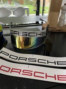 Porsche Helmet Visor Sticker Decal