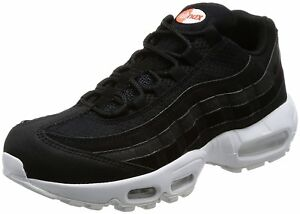 d0602c02dcbc Nike Mens Air Max 95 Premium SE Shoe Black Black-White-Team Orange ...