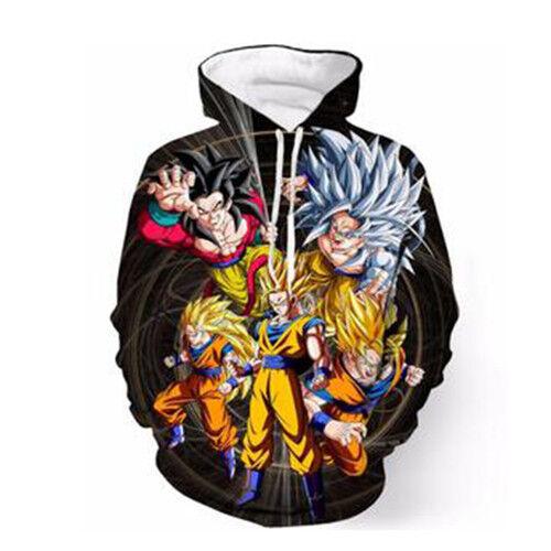 Unisex Anime Dragon Ball Z Goku 3D Print Hoodies Sweatshirt Pullover Tops S-5XL
