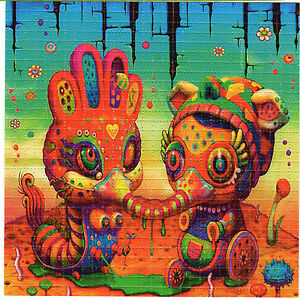 sucky face perforated sheet page blotter art psychedelic acid free