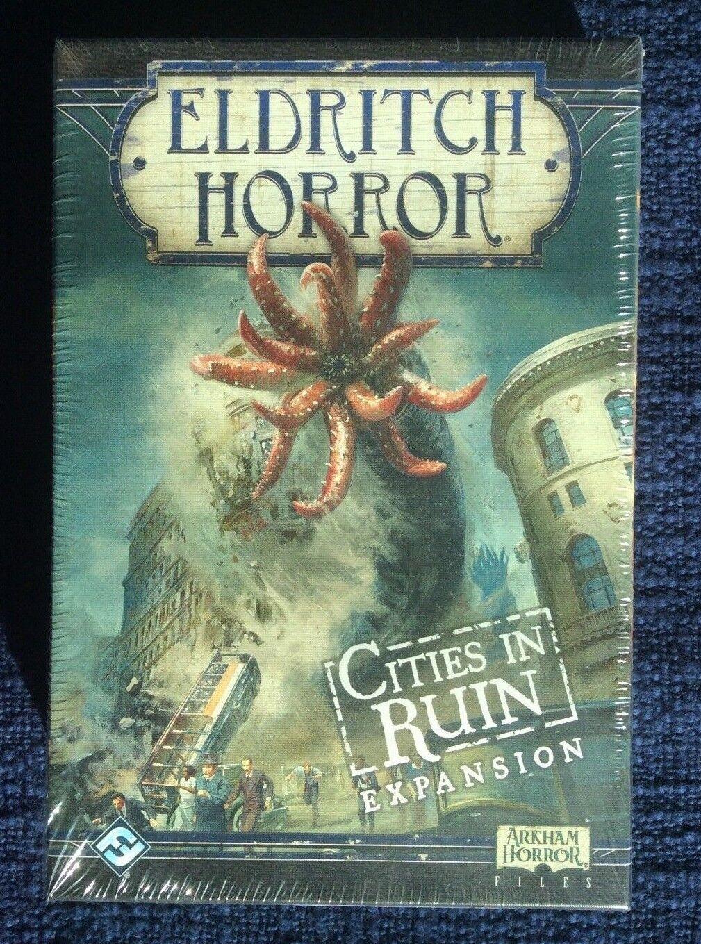 Eldritch horror ciudades en ruinas expansión FFG Nuevo en rojoucción  envío Gratis